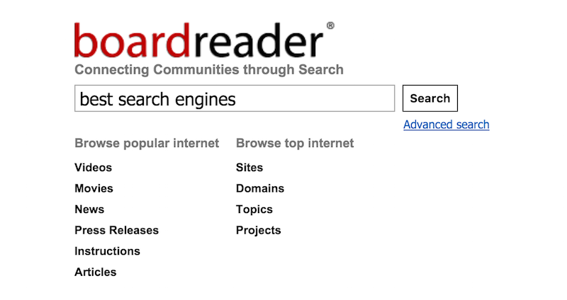 Boardreader Forum Search Engine
