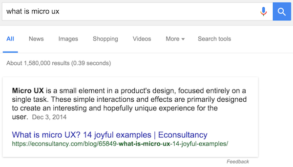 what-is-micro-ux-google-search